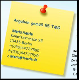 Angaben gemäß §5 TMG